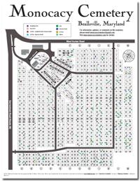 Monocacy Cemetery Map